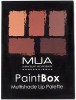 MUA MAKEUP ACADEMY Paint Box Lip Palette 5 G (Beige Nudes & Honey Browns)