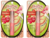 LipIce Sheer Color Strawberry (2g Each) Pack Of 2 4 G (Transparent)
