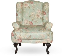 Urban Living Bordeaux Solid Wood Living Room Chair (Finish Color - Green With Pink Flower)