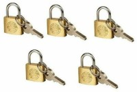 Globe 30 Mm Pack Of 5 Padlock (Gold)