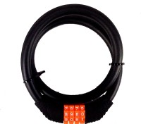 He Retail Resettable Combination Spiral Cable Lock (Black)