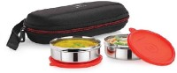 Cello Cello Max Fresh Super Steel 2 - Red 2 Containers Lunch Box (350 Ml)