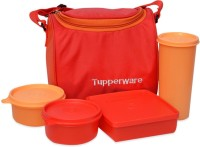 Tupperware Tupperware Red Lunch 4 Containers Lunch Box (1000 Ml)