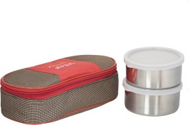 Maya's Royale Red and Brown (400 Ml) 2 Containers Lunch Box
