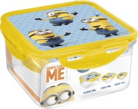 Minions Square 3 Containers Lunch Box (2440 Ml)
