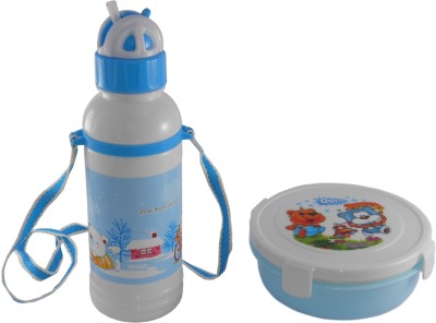 Infinxt Snow Bears Happy Kids 1 Containers Lunch Box (650 Ml)