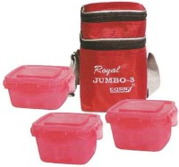 CARRY Attractive Branded Jumbo Lunch Box With Cool Cover 3 Containers Lunch Box (750 Ml)