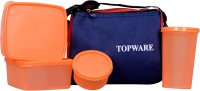 Topware Topblue_orng 4 Containers Lunch Box (900 Ml)
