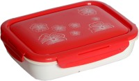 Chrome Lunch Box With Spoon(4 Compartments) 9564P 650 Ml Lunch Box (4 Containers)