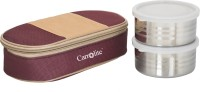 Carrolite Matee Finish Maroon And Brown (400 Ml) 2 Containers Lunch Box (400 Ml)