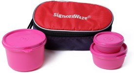 Signoraware 553 Rainbow 3 Containers Lunch Box