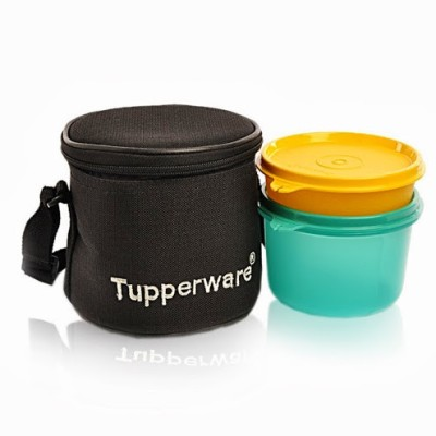 tupperware junior executive 2 containers lunch box 500 ml. Black Bedroom Furniture Sets. Home Design Ideas
