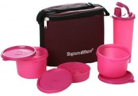 Signoraware Combo Executive Medium (Pink) 4 Containers Lunch Box (1580 Ml)