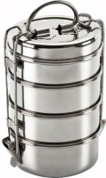 King International Wire Tiffin Box/ Lunch Box 12cm (4 Tier) 4 Containers Lunch Box (1600 Ml)