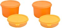 Tupperware Tupperware Vargin Plastic Lunch Box Yellow And Orange 4 Containers Lunch Box (1300 Ml)