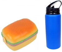 I-gadgets Burger Lunch Box With Sipper Bottle 3 Containers Lunch Box (500 Ml)