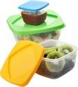 Dizionario Storage Container Plastic Lunch Boxes - Set Of 3, Multi Color