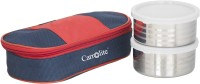Carrolite Matee Finish Red And Blue (400 Ml) 2 Containers Lunch Box (400 Ml)