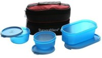 Signoraware Healthy Lunch Box With Bag 3 Containers Lunch Box (900 Ml)