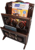 Onlineshoppee Wooden Magazine Holder