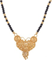 Rk City Shopping Black Crystal Long Chain With Pendant Crystal, Enamel, Metal Mangalsutra