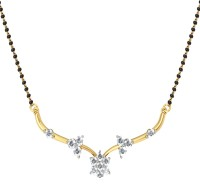 JacknJewel Feast Diamond Artistic Yellow Gold Mangalsutra
