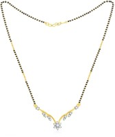 Jashn The Aasa With 22 Kt Gold Plated Made With 925 Sterling Silver Mangalsutra