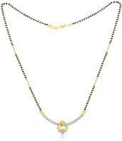 Jashn The Love Heart With 22 Kt Gold Plated Made With 925 Sterling Silver Mangalsutra