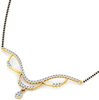 JacknJewel Perfect Diamond In Gold Yellow Gold Mangalsutra