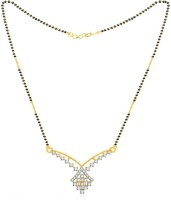 Jashn The Gemine Lifetime With 22 Kt Gold Plated Made With 925 Sterling Silver Mangalsutra