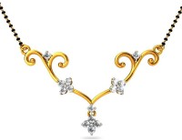 JacknJewel Striking Diamond Floral Yellow Gold Mangalsutra