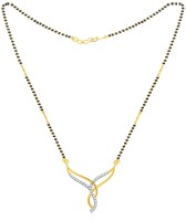 Jashn The Kama Glittering With 22 Kt Gold Plated Made With 925 Sterling Silver Mangalsutra