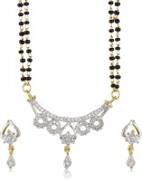 Erra AD Intricate Set With Black Beaded Chain Alloy Mangalsutra