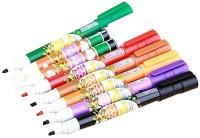 Imported Set Of 8 Color Changing Magic Chisel Tip Marker Pens (Set Of 8, Multicolor)