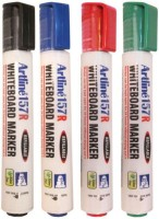 Artline 157R Bullet Tip White Board Marker (Set Of 4, Black, Red, Green, Blue)
