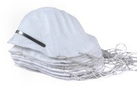 Breathers Go Light!Go Economy! [White,cup Shape ,Self Adjusting Elastic ,Pollution Respirator] Pack Of 10 MP-8RF Respirator