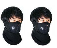 Sangaitap 2 Pes Bike Face Balaclava For Riding Bike Dust/Sun/Heat/Cold Protection Anti-pollution Mask (Black, Pack Of 2)