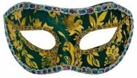 Smartcraft Velvet Eye -Green Party Mask (Multicolor, Pack Of 1)