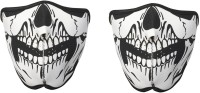 Rudham Skeleton Print Face Mask For Riding Bike Dust Sun Heat Cold Protection Anti-Pollution Set Of 2 Balaclava (Black, White, Pack Of 2)