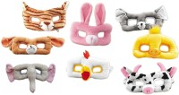 Party Anthem Animals Shape Soft Masks - Pack Of 8 Animals Party Mask (Multicolor, Pack Of 8)