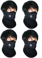 Sangaitap 4 Bike Face Balaclava For Bikers Sun/Heat/Cold Protection Anti-pollution Mask (Black, Pack Of 4)