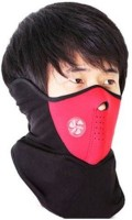 Bike World X-ports Neoprene Half Red Face Anti Pollution Mask Balaclava (Red, Pack Of 1)