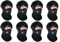 Sangaitap Bike Face Balaclava For Riding Bike Dust/Sun/Heat/Cold Protection Anti-pollution Mask Anti-pollution Mask (Black, Pack Of 8)