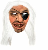 Tootpado Realistic Latex Rubber Adult Size Pirate 1a213 - Horror Halloween Ghost Scary Full Face Cosplay Costumes Supplies Creepy Zombie Party Mask (Multicolor, Pack Of 1)