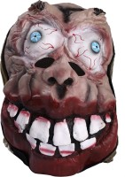 Madcaps The Partyshop Fat Head With Bulging Eyes Party Mask (Black, Pack Of 1)
