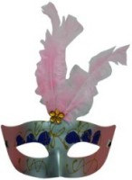 Smartcraft Showgirl Eye -Light Pink Party Mask (Multicolor, Pack Of 1)