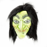 Tootpado Realistic Latex Rubber Adult Size Face - Witch 1a191 - Horror Halloween Ghost Scary Full Face Cosplay Costumes Supplies Creepy Zombie Party Mask (Multicolor, Pack Of 1)