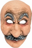Tootpado Realistic Latex Rubber Adult Size Face - Old Man 1a182 - Horror Halloween Ghost Scary Full Face Cosplay Costumes Supplies Creepy Zombie Party Mask (Multicolor, Pack Of 1)