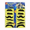 Party Anthem Assorted Fake Moustache Party Mask - Black, Pack Of 12