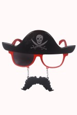 Atpata Funky Pirate Mustache Red